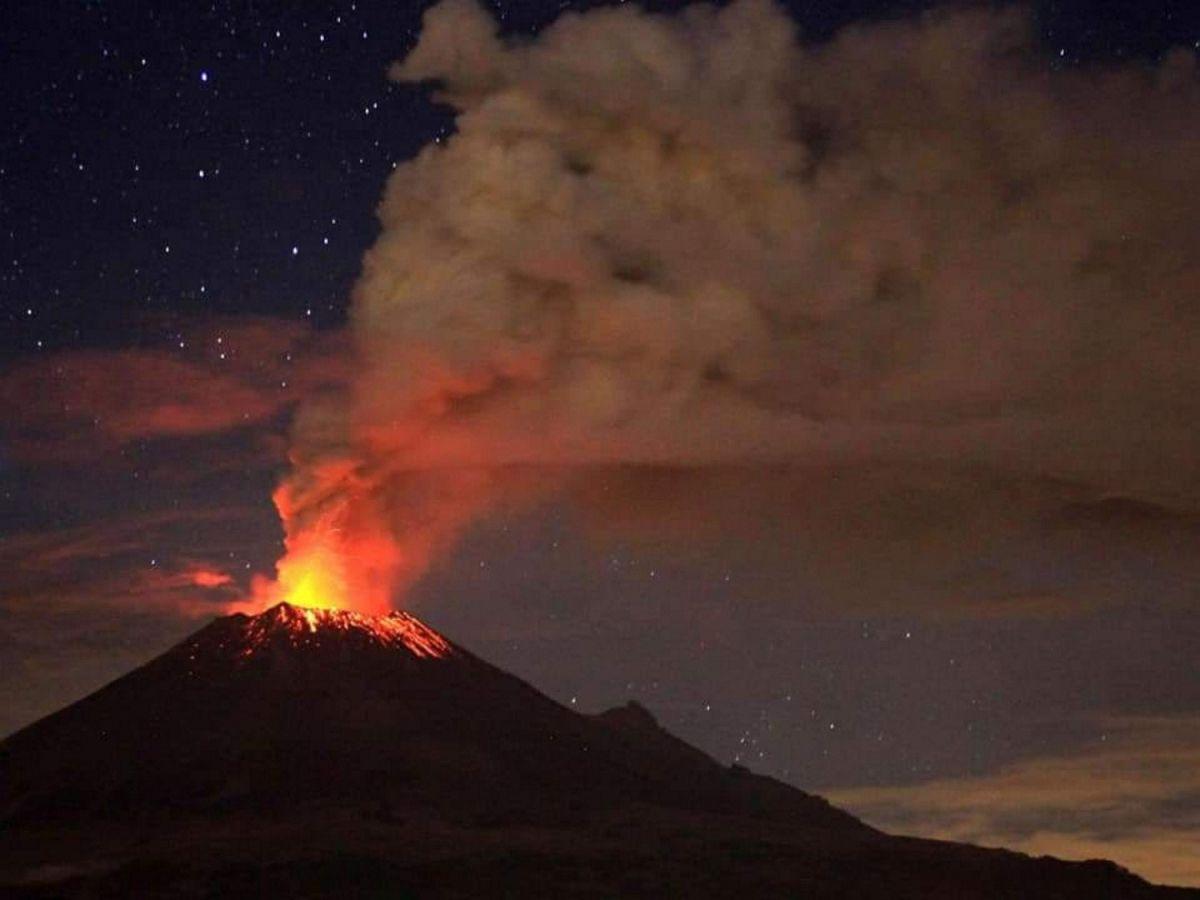 Fuerte explosión del volcán Popocatépetl (Video)