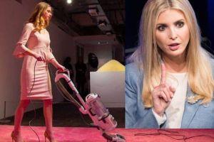 Ivanka Vacuuming: la polémica obra de arte que tiene a la hija del presidente Trump echando chispas