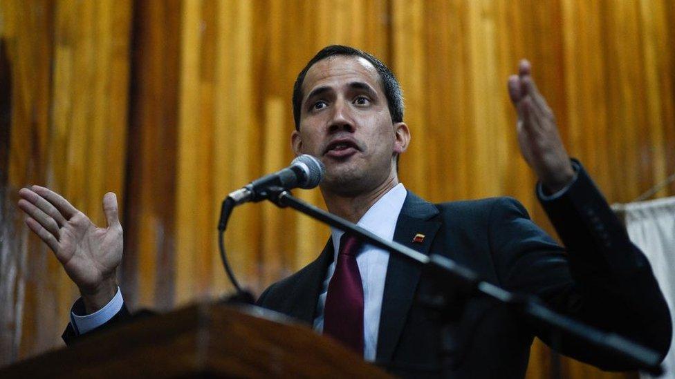 """Juan Guaidó, presidente """"encargado"""" de Venezuela."""