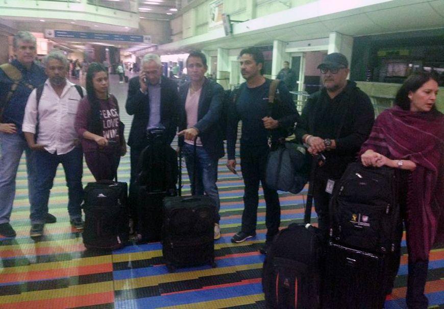 Jorge Ramos y su equipo deportado