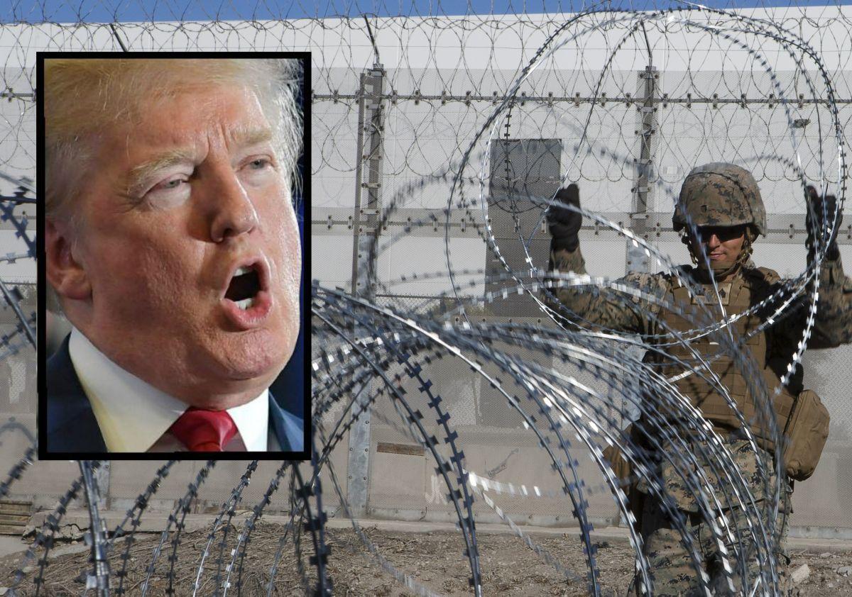 Trump manda a poner alambre de púas en el muro fronterizo y …. se lo roban en Tijuana