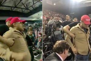 Seguidor de Trump ataca violentamente a periodista durante su discurso en El Paso