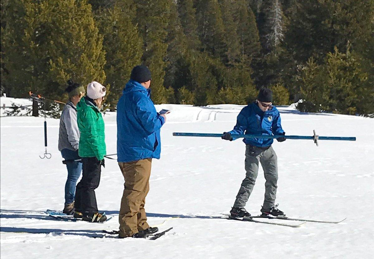 El sur de California depende de la nieve en la Sierra Nevada para sus suministros de agua. (@CA_DWR)