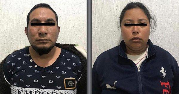 Rutilo y Karla fueron detenidos en el Estado de México.