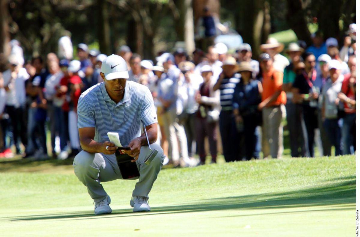 Tiger Woods tuvo un discreto debut en el Campeonato Mundial de Golf que de disputa en México