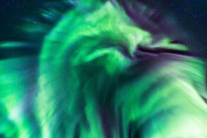Foto: El impresionante dragón verde que apareció en el cielo