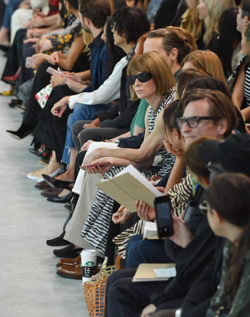 En la imagen Anna Wintour, la editora de Vogue.