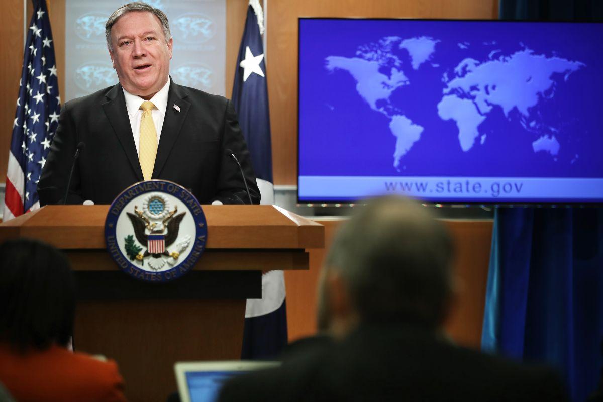 El Secreatario de Estado, Mike Pompeo, dio el anunció en una conferencia de prensa en Washington.