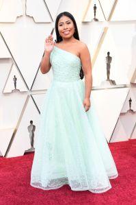 Yalitza Aparicio llegó a la alfombra roja de los Oscars 2019