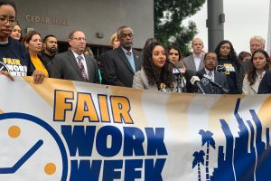 Líderes y activistas promueven jornada laboral justa