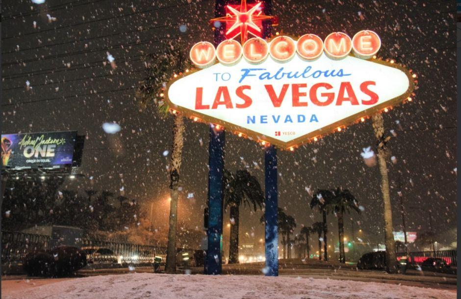 Nevada causa retrasos en aeropuerto de Las Vegas y registran hasta 14 pulgadas de nieve en Arizona