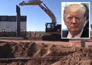 """Trump advierte que la construcción del muro fronterizo está siendo """"muy rápida"""""""