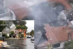 Avión se desploma en California y deja al menos dos muertos