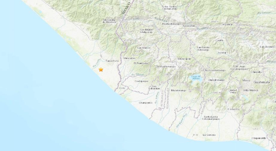 El epicentro se detectó cerca de la frontera de México con Guatemala.