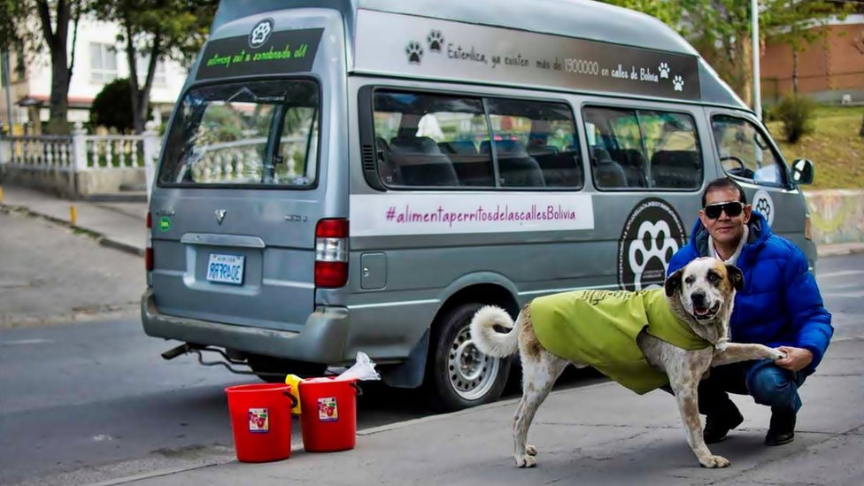 El boliviano que dejó su trabajo como exitoso hombre de negocios para alimentar a perros callejeros