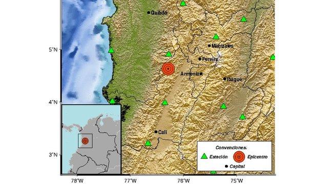 Un sismo en Colombia de magnitud 6 sacude varias ciudades en el oeste del país