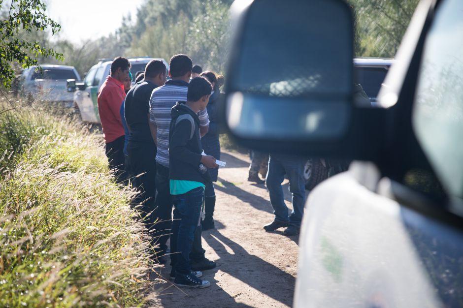 Familias inmigrantes en la frontera.