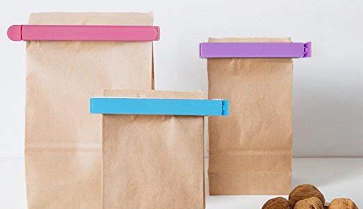 3 sets de clips herméticos para cerrar las bolsas de alimentos y mantenerlos frescos