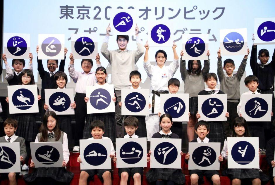 Revelan los pictogramas de los Juegos Olímpicos Tokio 2020