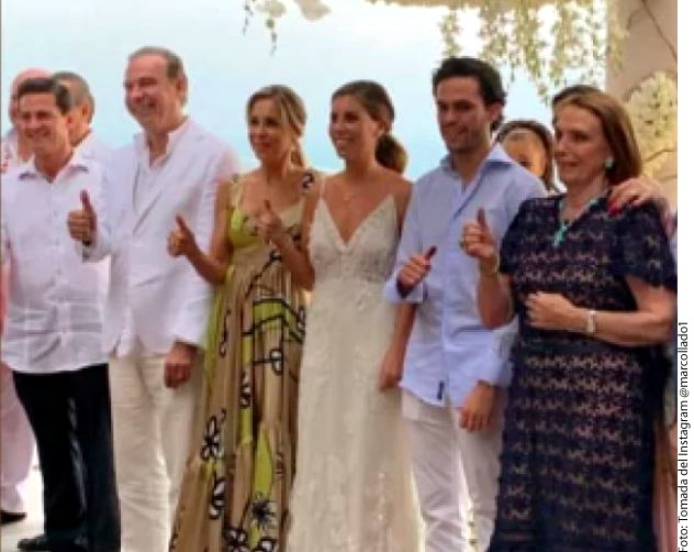 Expresidente Peña Nieto y su novia Tania Ruiz asisten juntos a boda en Acapulco