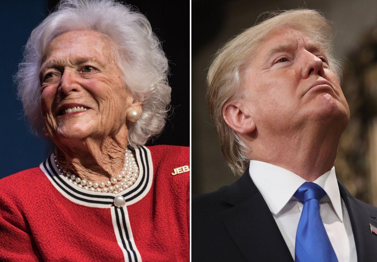 A Bárbara Bush no les gustaba el estilo del presidente Donald Trump.