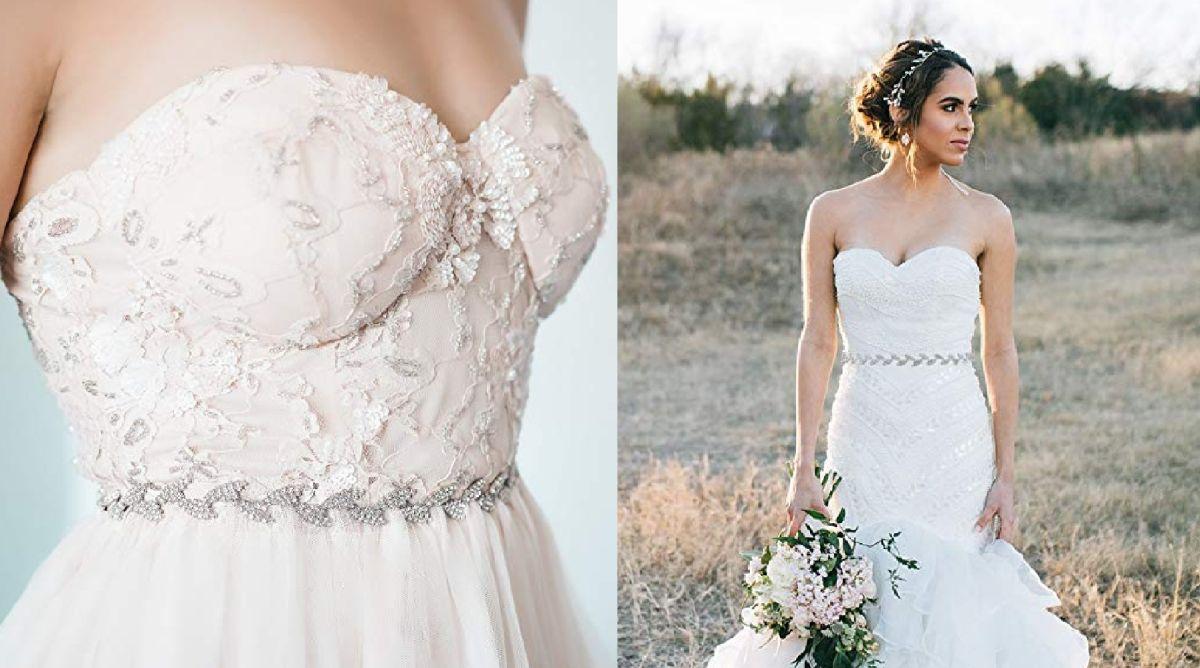 5 cinturones con pedrería para darle un toque especial a tu vestido de novia