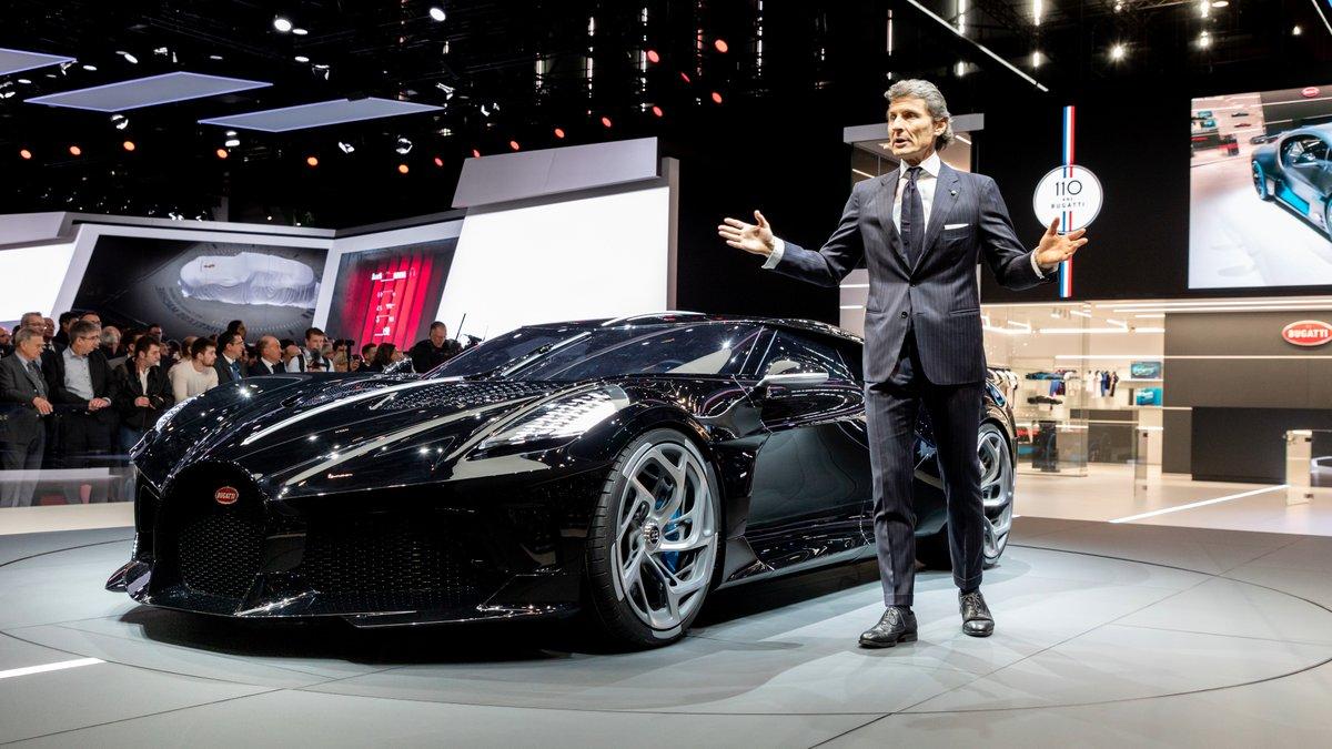 Presentan el Bugatti La Voiture Noire, el auto más caro del mundo