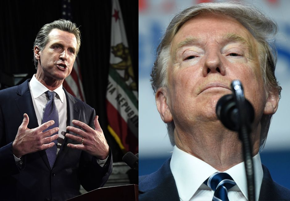 Gobernador de California le da ejemplo a Trump y este no lo soporta