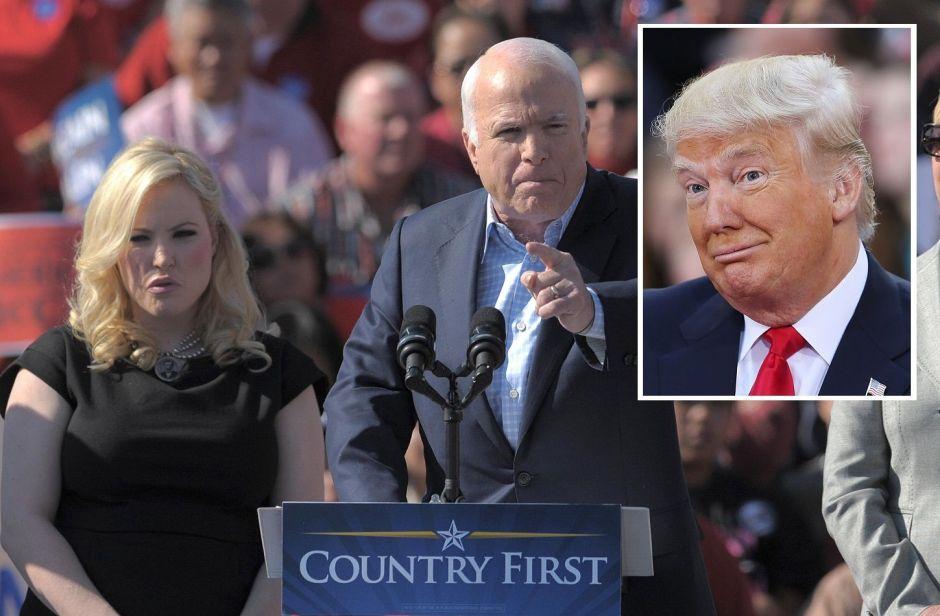 Trump ataca al senador fallecido John McCain, pero su hija le responde magistralmente