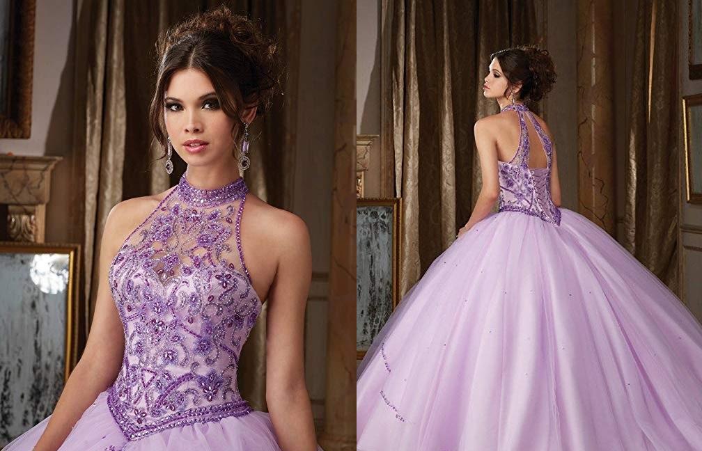 7 vestidos de quinceañera con cuello halter para hacerte lucir más alta