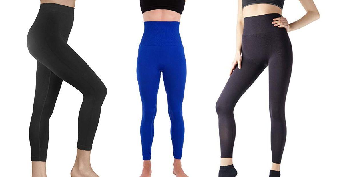 5 leggings de compresión de corte alto para moldear tu figura en todo momento