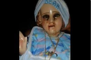 La figura del niño Jesús en Acapulco que llora sangre