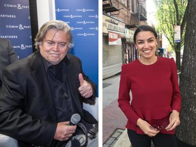 """Bannon se refirió a Ocasio-Cortez como una """"política ciudadana""""."""