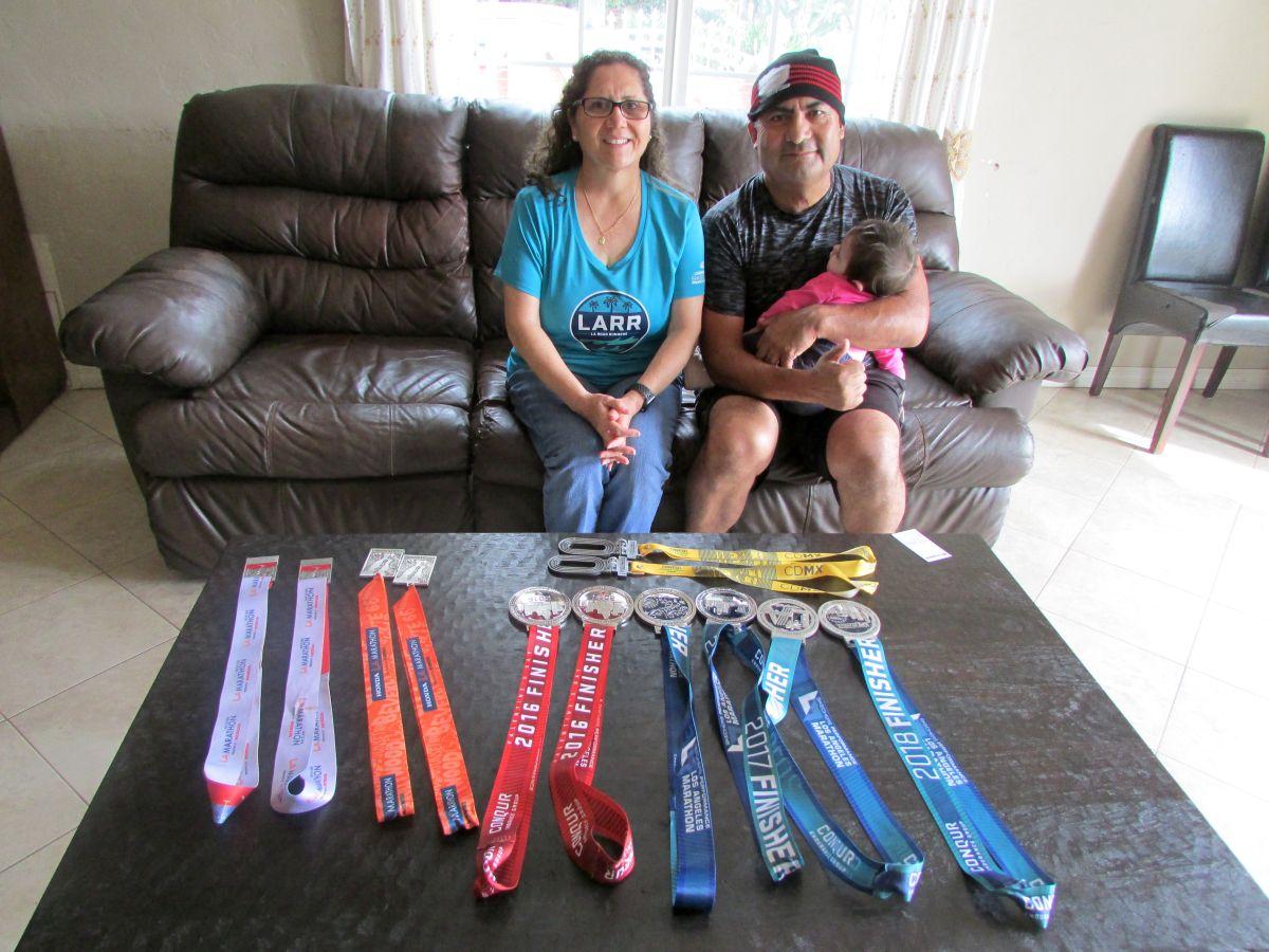 Pareja corre contra la diabetes hoy en el maratón de Los Ángeles