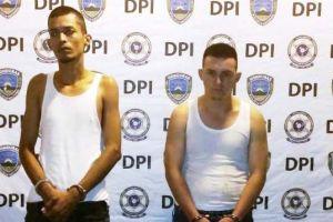 Detienen a supuestos pandilleros de la Mara Salvatrucha o MS-13 con fusil y escopeta