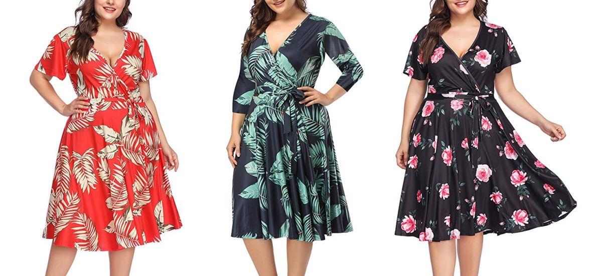 5 vestidos casuales que te ayudarán a disimular el tamaño de tu barriga si eres de talla grande