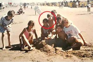 Revelan foto de Messi y Antonella en la playa hace 20 años ¡eran unos niños!