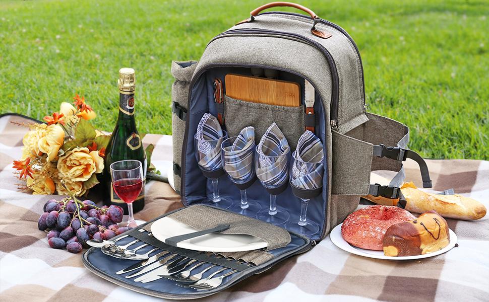 Las 5 mejores mochilas con manta y vajilla incluida para cuando te vayas de picnic al aire libre