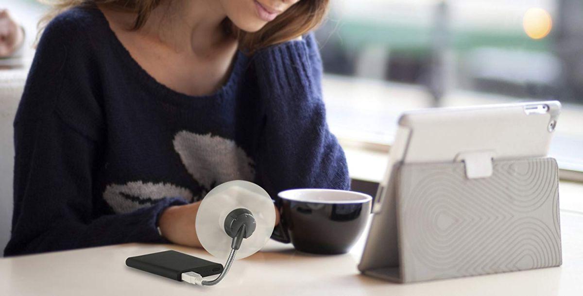 7 ventiladores portátiles con USB para refrescarte mientras usas tu celular o tu computadora
