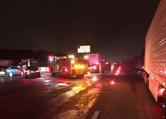 El accidente fue reportado a las 4:23 a.m.