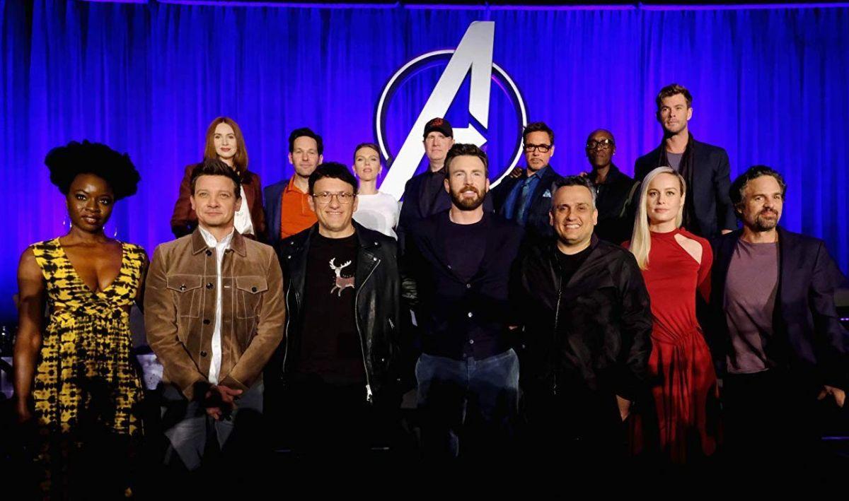Los actores, director y productor de Avengers: Endgame.