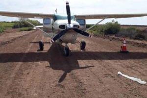 Aseguran avioneta relacionada con el narco en Quintana Roo