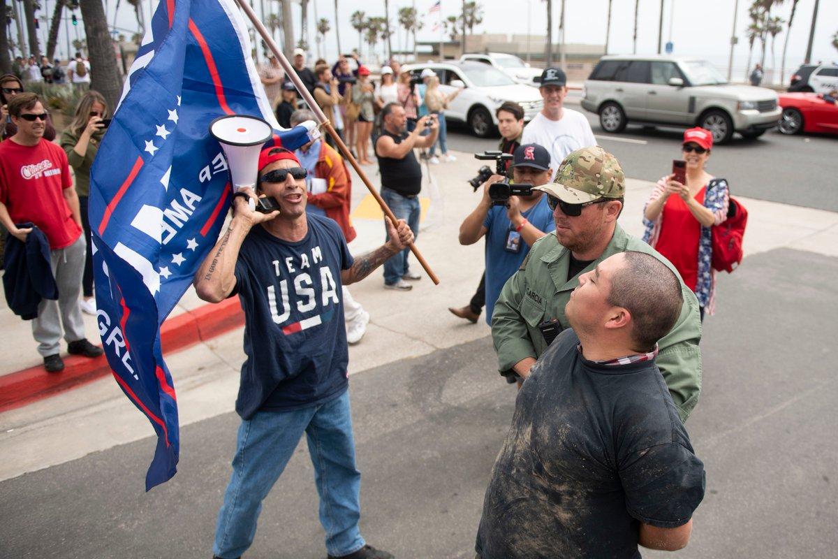 Decenas de personas quieren que California deje de ser une estado santuario. (TW: Kevin Sullivan)