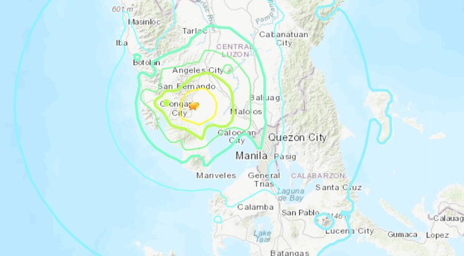 Terremoto de magnitud 6.1 sacudió a Filipinas
