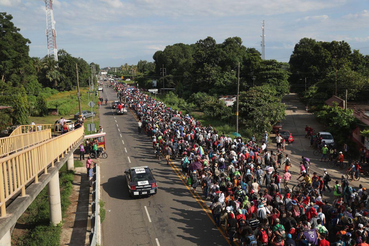 """El Gobierno mexicano señala que las caravanas migrantes """"son la nueva realidad""""."""