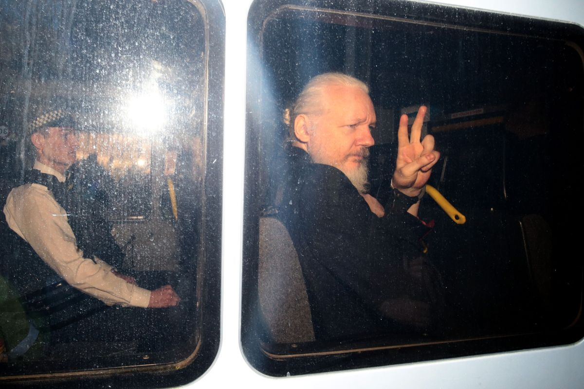 Julian Assange fue arrestado en Londres en 2019,