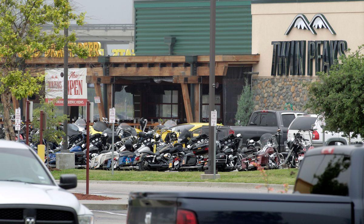 Twin Peaks donde ocurrió el tiroteo entre bandas de motoristas rivales, el 18 de mayo de 2015.