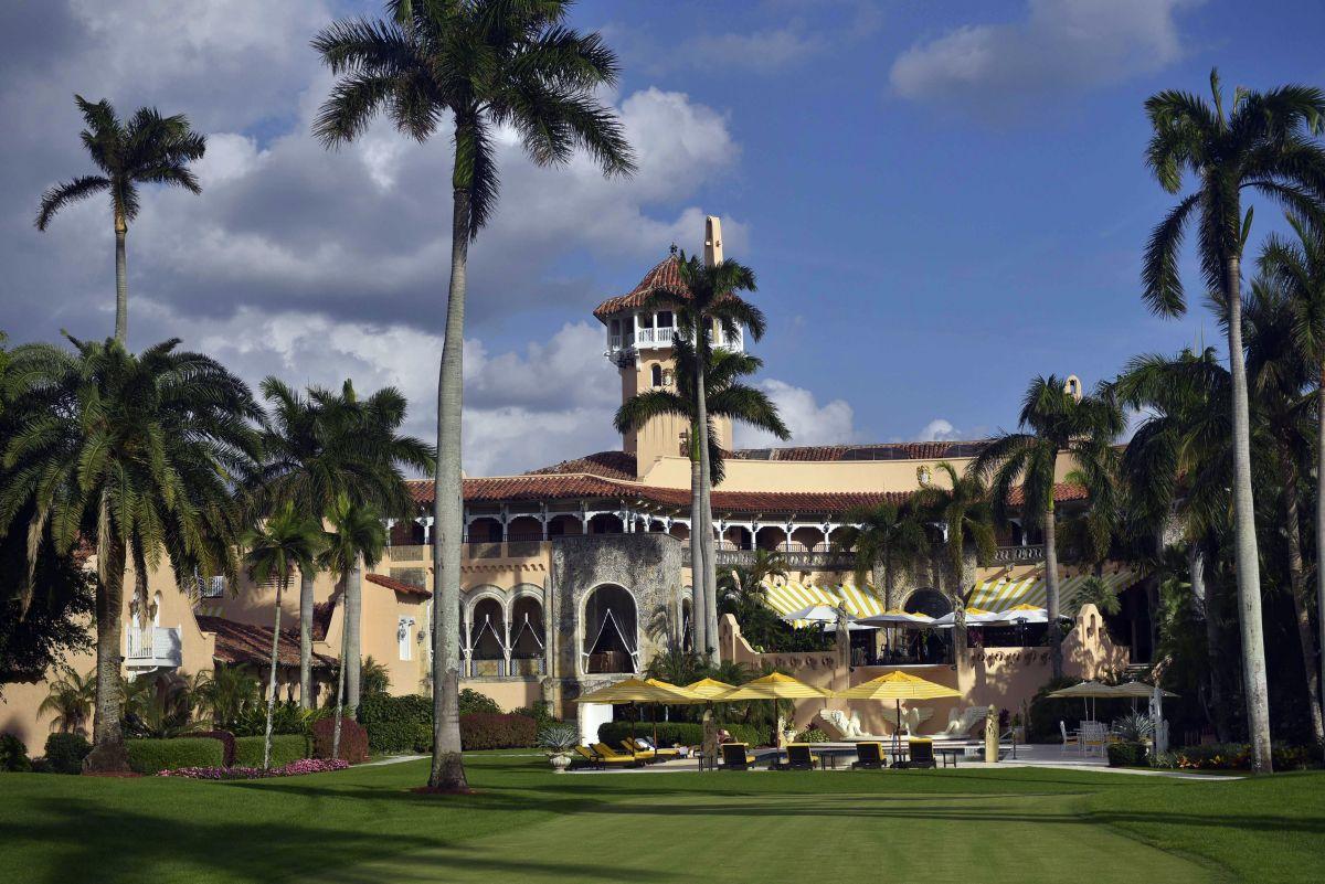 Entrada posterior de Mar-a-Lago, la residencia de Trump en Palm Beach, Florida.