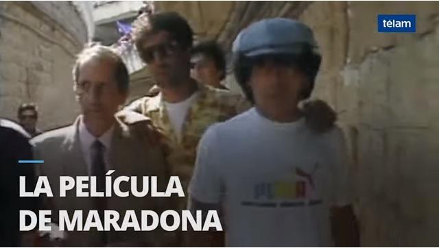 """Video: Circulan imágenes inéditas del nuevo filme """"Maradona, la película"""""""