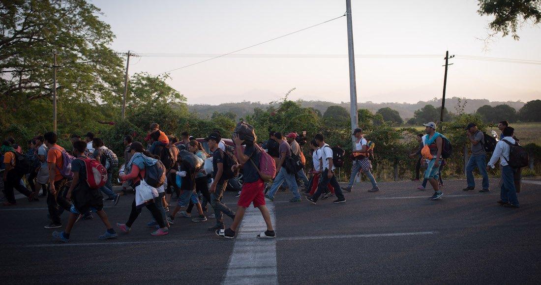 Migrantes avanzan en Chiapas